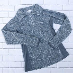 Colombia Gray Long Sleeved Quarter Zip Fleece